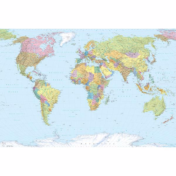 Picture of Komar World Map Wall Mural