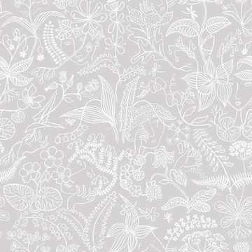 Picture of Grazia Grey Floral Silhouette