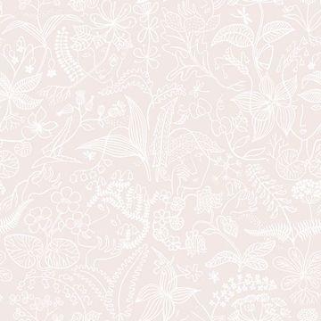 Picture of Grazia Blush Floral Silhouette