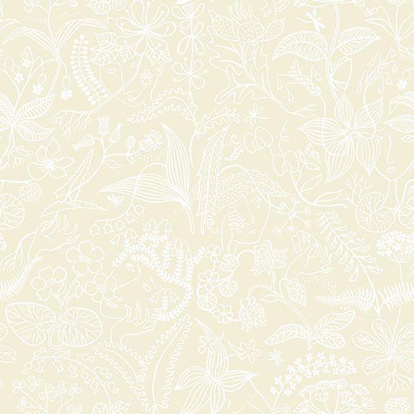 Picture of Grazia Beige Floral Silhouette