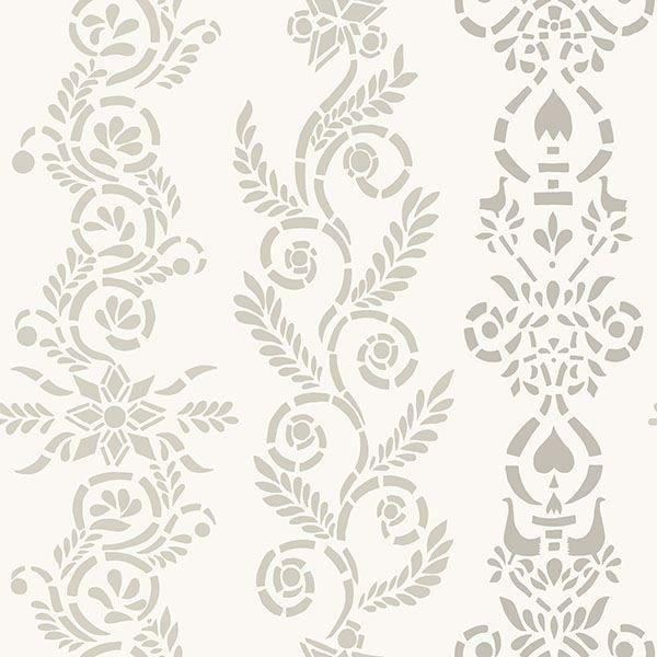 Picture of Anja Grey Ornate Stripe