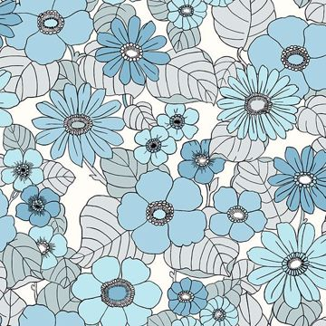 Picture of Capriana Light Blue Floral Burst
