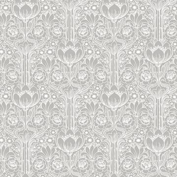 Picture of Odessa Grey Garden Damask