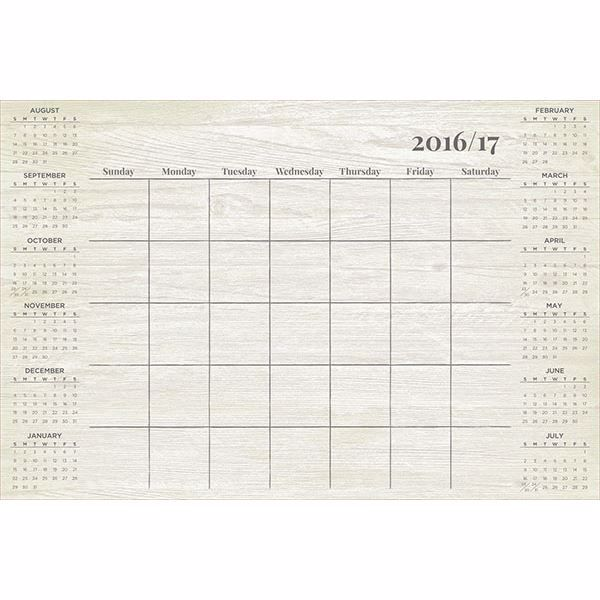 Picture of Weathered Academic 2016-17 Dry Erase Calendar Decal