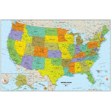 Picture of USA Dry Erase Map