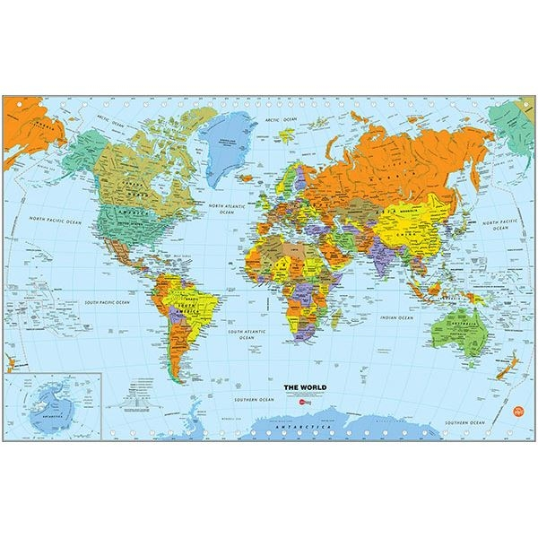 Picture of World Dry Erase Map