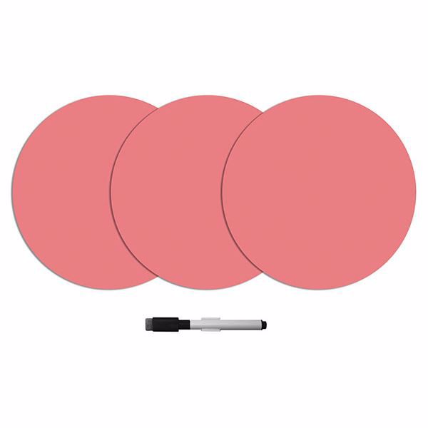 Picture of Coral Dry Erase Dot Decals
