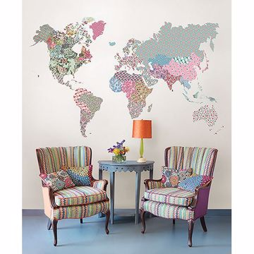 Picture of Boho World Map Super Wall Art Kit