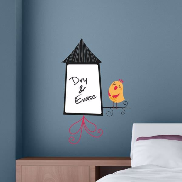 Picture of Birdhouse Whiteboard Wall Decals