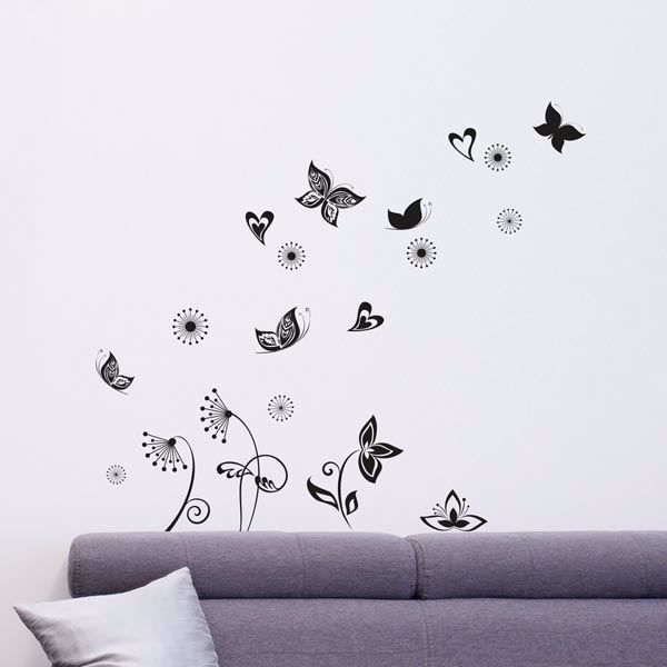 Picture of Butterflies Silhouette Wall Decals