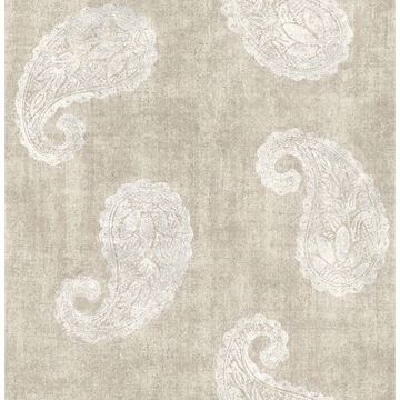 Picture of Kashmir Beige Paisley Wallpaper