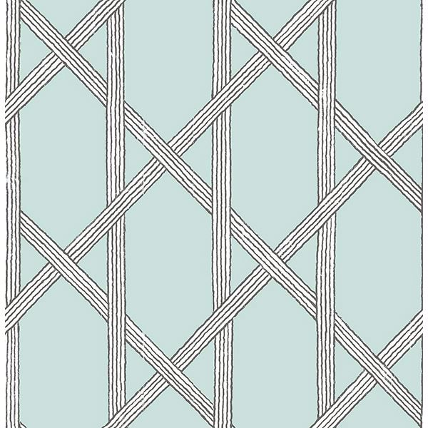 Picture of Mandara Light Blue Trellis
