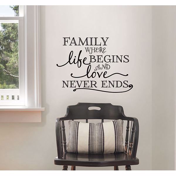 Picture of Family Where Life Begins Wall Quote Decals