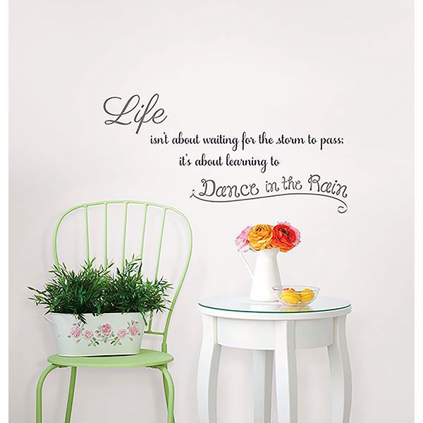 Picture of Dance In The Rain Wall Quote Decals