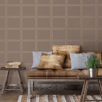 Picture of Gridlock Brown Geometric