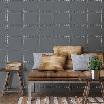 Picture of Gridlock Charcoal Geometric