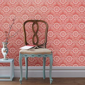 Picture of Jubilee Red Medallion Damask