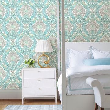 Picture of Fontaine Teal Damask