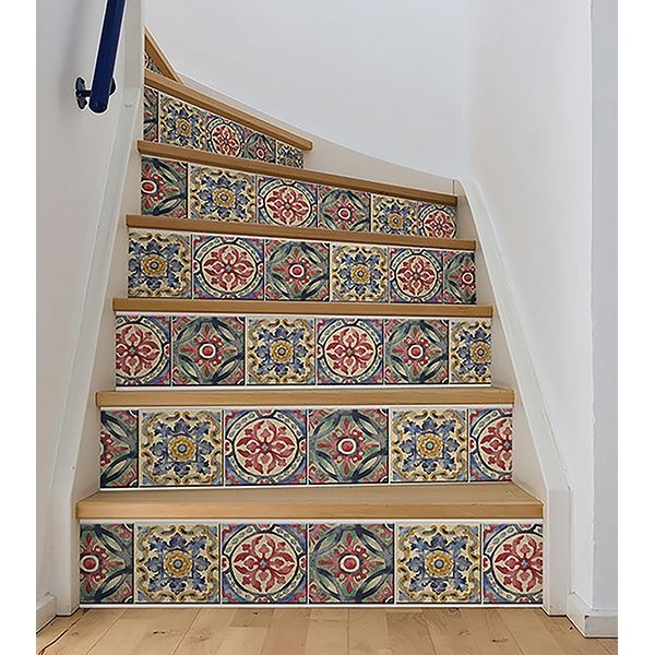Picture of Iznik Tile Stair Stripe Decal