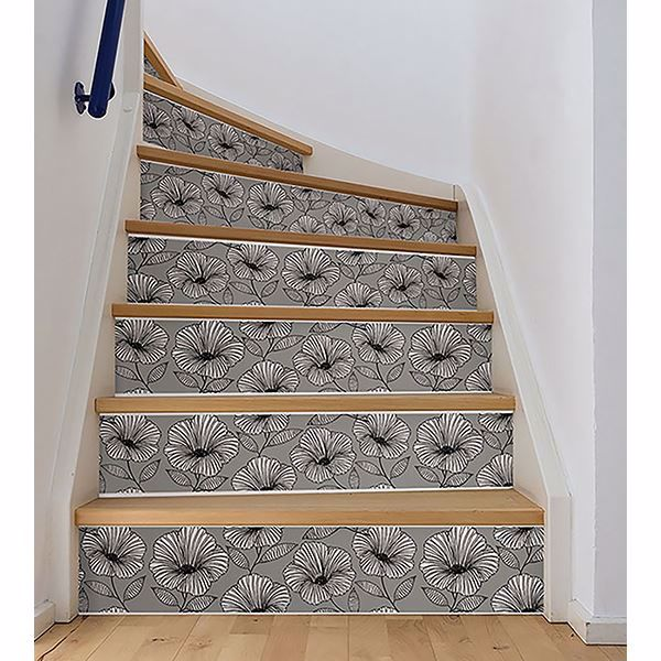 Picture of Moon Flower Stair Stripe Decal