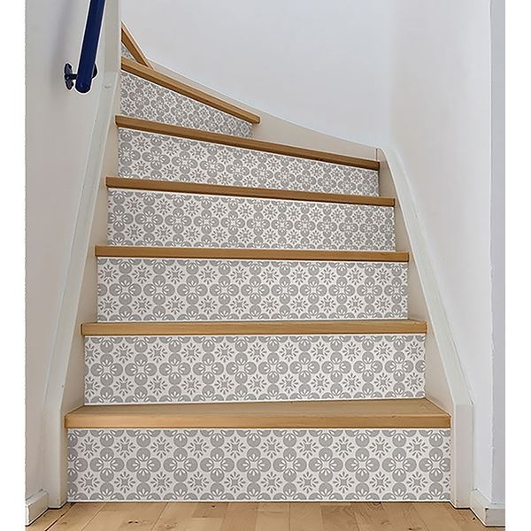 washable and scratch-resistant stairs Wall Stickers DS00032 Stairs Marsala Adhesive PVC decoration for wear-resistant