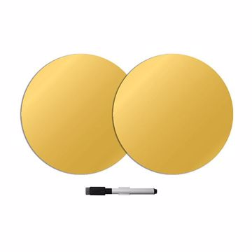 Picture of Gold Foil Dry Erase Dot Decals