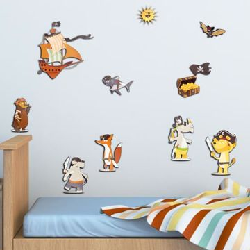 Picture of Pirates 3D Wall Decals