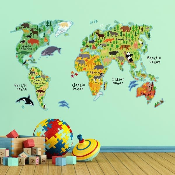 Picture of Kids World Map Wall Decals