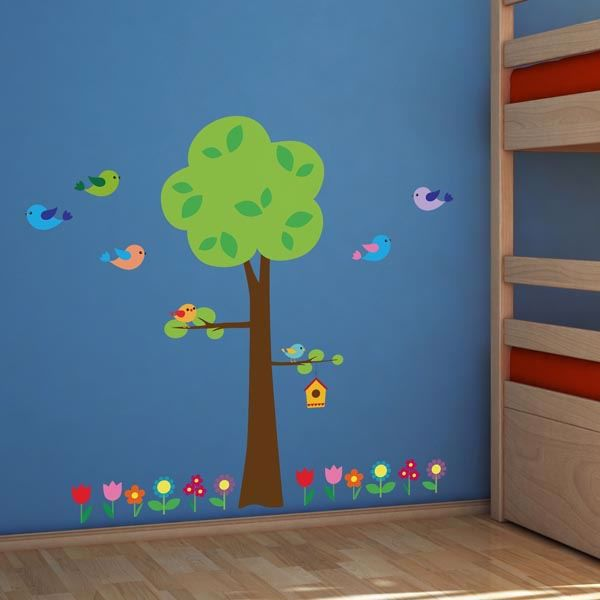 Picture of Tree with Flowers Wall Decals