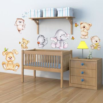 Picture of Cute Animals Wall Decals