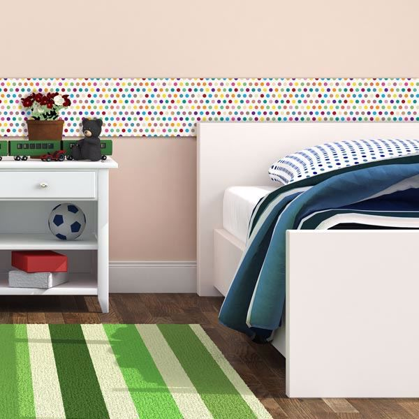Picture of Colorful Pois Peel and Stick Foam Tiles