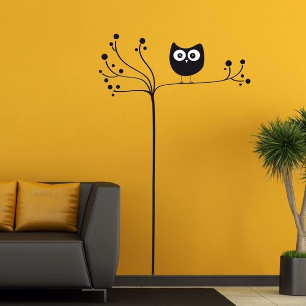 Picture of Owl On Tree Wall Decals