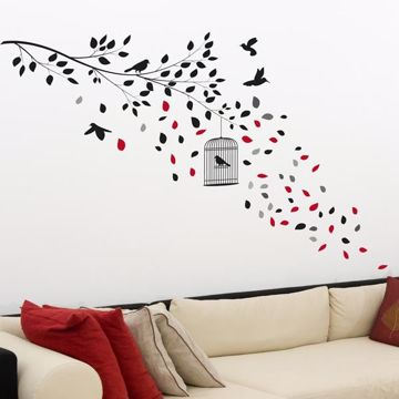 Picture of Black Cage Wall Decals