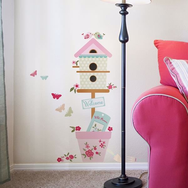 Picture of Welcome with Flowers Wall Decals
