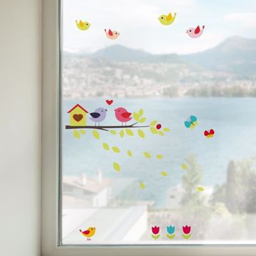 Picture of Birds on the Branch Window Stickers