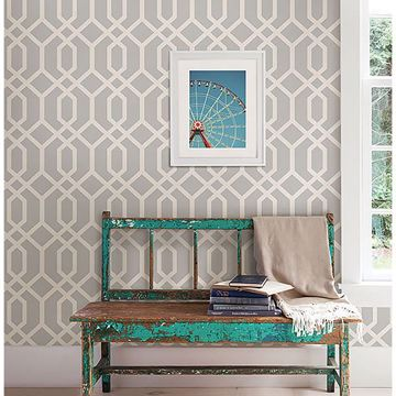 Picture of Trellis Grey Montauk Wallpaper