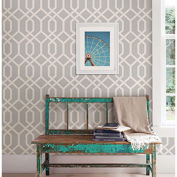 Picture of Trellis Grey Montauk Wallpaper