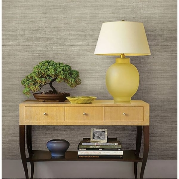 Picture of Woven Beige Faux Grasscloth Wallpaper