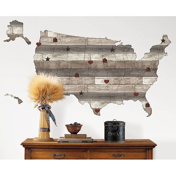 Country Living US Map Decal