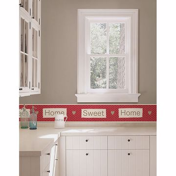 Picture of Red Home Sweet Home Peel and Stick Border