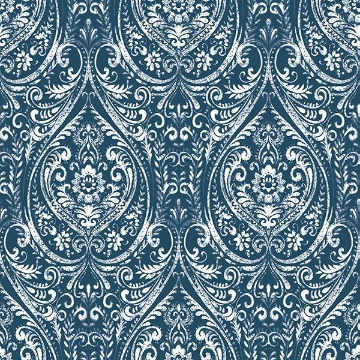 Picture of Bohemian Damask Indigo Peel And Stick Wallpaper
