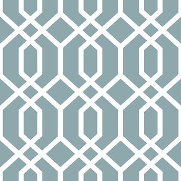 Picture of Montauk Lattice Hemlock Blue Peel And Stick Wallpaper