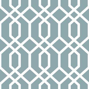 Picture of Montauk Lattice Hemlock Blue Peel And Stick Wallpaper