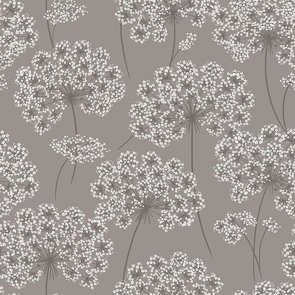 Picture of Angelica Grey Peel And Stick Wallpaper