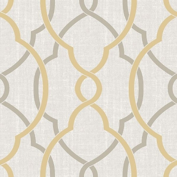 Picture of Sausalito Taupe/Yellow Peel And Stick Wallpaper