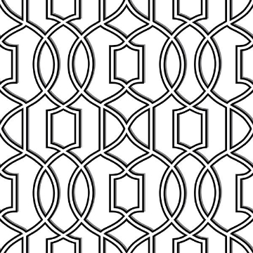 Picture of Uptown Trellis Black/White Peel And Stick Wallpaper