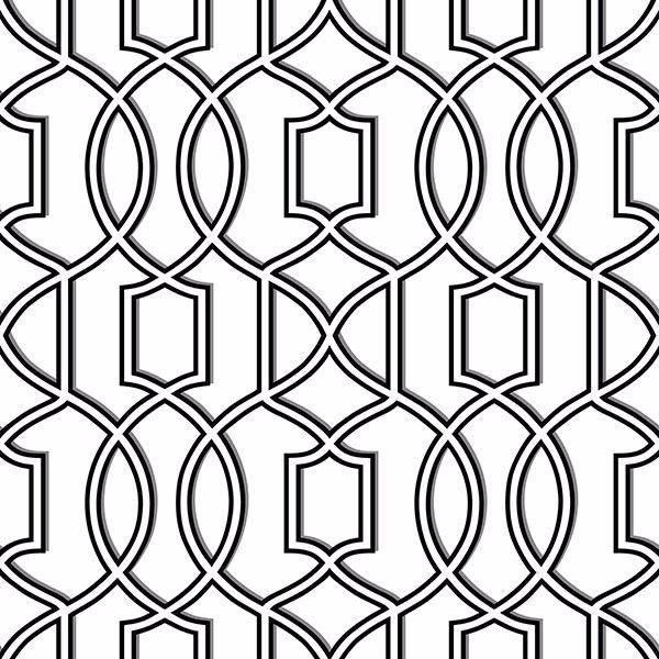 Nu1696 Uptown Trellis Black White Peel And Stick Wallpaper By Nuwallpaper