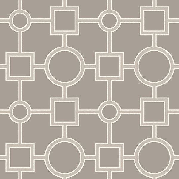 Picture of Utopia Geo Taupe Peel And Stick Wallpaper