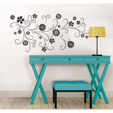 Picture of Floral Silhouette Wall Art Kit