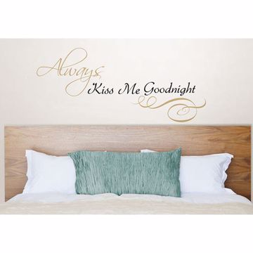 Picture of Always Kiss Me Wall Quote Decals